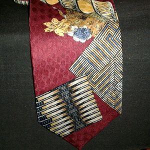 Men's multi-color designer tie